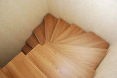 för illustrationtrappa för begrepp 3d träframgång Konstruktionen av trappan i huset Fotografering för Bildbyråer