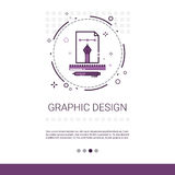 För illustrationutveckling för grafisk design som dator programmerar teknologibanret med kopieringsutrymme vektor illustrationer