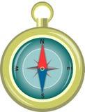 för illustrationvektor för kompass eps8 glansig windrose också vektor för coreldrawillustration EPS10 Royaltyfri Foto