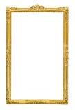 för illustrationvektor för ram guld- tappning royaltyfri bild