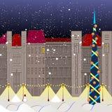 för illustrationvykort för jul eps10 vektor Royaltyfri Fotografi