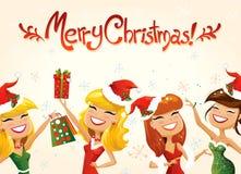 för illustrationvykort för jul eps10 vektor royaltyfri illustrationer