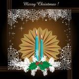 för illustrationvykort för jul eps10 vektor Royaltyfri Bild
