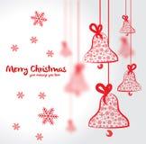 för illustrationvykort för jul eps10 vektor Arkivfoto