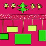 för illustrationvykort för jul eps10 vektor Royaltyfria Bilder