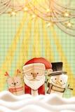 för illustrationvykort för jul eps10 vektor Stiliserat abstrakt begrepppappersutklipp Royaltyfri Fotografi