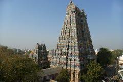 för india för tilldelad gopura hinduisk nadu för meenakshi lord madurai ett annat södra sundareswarar tamiltempel för skulpturer  royaltyfri foto