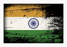 för india för tillgänglig flagga glass vektor stil Royaltyfri Foto