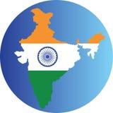 för india för tillgänglig flagga glass vektor stil Arkivfoto