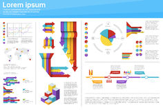 För Infographic för diagram för grafuppsättningfinans diagram för affär symbol finansiellt royaltyfri illustrationer