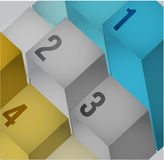 För informationsdiagram om affär 3d kuber Fotografering för Bildbyråer