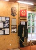 För informationsmitt om utställningar museum Grutas parkerar Arkivbild
