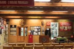 För informationsmitt om utställningar museum Grutas parkerar Royaltyfri Foto