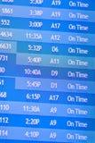 För informationsskärm om flyg skärmar Arkivbild