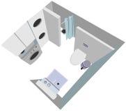 För inre bästa sikt jackettillustration för badrum Vektor Illustrationer