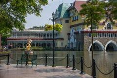 För Interlaken för dal för OKTOBER östlig Shenzhen Meisha teström grupp F hotell Royaltyfria Bilder