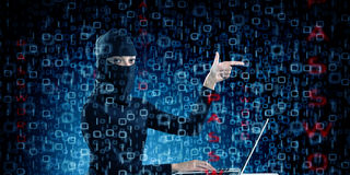 för internetframförande för begrepp 3d säkerhet Arkivfoto