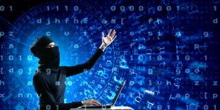 för internetframförande för begrepp 3d säkerhet Arkivbild