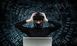 för internetframförande för begrepp 3d säkerhet Royaltyfri Bild
