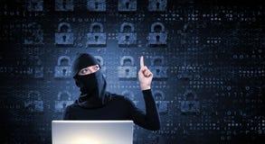 för internetframförande för begrepp 3d säkerhet Royaltyfri Fotografi
