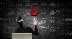 för internetframförande för begrepp 3d säkerhet Blandat massmedia Royaltyfria Bilder