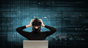 för internetframförande för begrepp 3d säkerhet Blandat massmedia Royaltyfri Fotografi