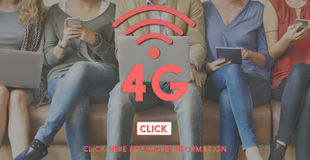 för internetnätverk för 4G Digital Wifi för teknologi begrepp Royaltyfria Foton