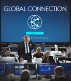 För internetteknologi för global anslutning tillgängligt begrepp Fotografering för Bildbyråer