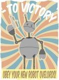 för invasionaffischen för faux ii vektorn för roboten kriger världen royaltyfri illustrationer