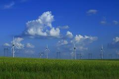 för ireland för stor blå lantgård för oklarhetskust östlig wind för white för väder trevlig sky Arkivbild
