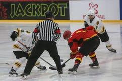 För ISHOCKEYVÄRLD för 2017 IIHF MÄSTERSKAP - Australien vs Belgien arkivfoton