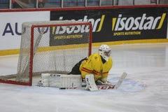 För ISHOCKEYVÄRLD för 2017 IIHF MÄSTERSKAP - Rumänien vs Spanien arkivbild