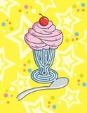 för ismaze för bakgrund färgglad kräm- sundae Royaltyfri Bild