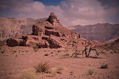 för israel för bildande geologisk timna park Royaltyfri Bild