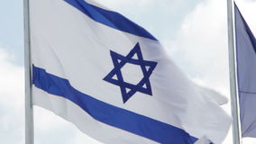 för israel för tillgänglig flagga glass vektor stil lager videofilmer