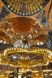 för istanbul för hagia inre kalkon sophia Arkivbilder