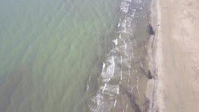 För Italien för strand för Rimini havskust video för bästa sikt 4K UHD flyg- surr stock video