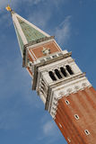 för italy för klockacampaniledi san marco torn venice Arkivfoton