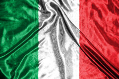 för italy för tillgänglig flagga glass vektor stil flagga på bakgrund Royaltyfria Bilder
