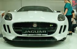 För Jaguar F för framsidamaskering kupé typ Royaltyfri Foto
