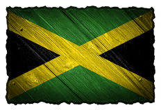 för jamaica för tillgänglig flagga glass vektor stil Royaltyfri Fotografi