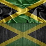 för jamaica för tillgänglig flagga glass vektor stil Royaltyfri Bild