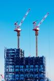 för japan för konkret område för arkitekturbyggnadsaffär glass högt tvilling- tokyo för stål för stigning kontor torn royaltyfri fotografi