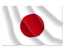 för japan för tillgänglig flagga glass vektor stil Arkivbilder