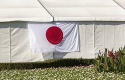 för japan för tillgänglig flagga glass vektor stil Royaltyfri Foto