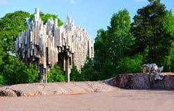 för jeanmonument för kompositör finlandssvensk sibelius till Arkivfoto