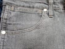 För jeansfack för tyg färgar texturerar gamla grå färger för svart, Arkivfoton