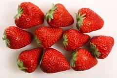 För jordgubbetextur för japan perfekt mogen bakgrund Arkivfoto