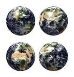 för jordklotöversikt för jord 3d realistiskt planet vektor illustrationer