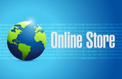 för jordklottecken för online-lager binärt begrepp Royaltyfri Fotografi